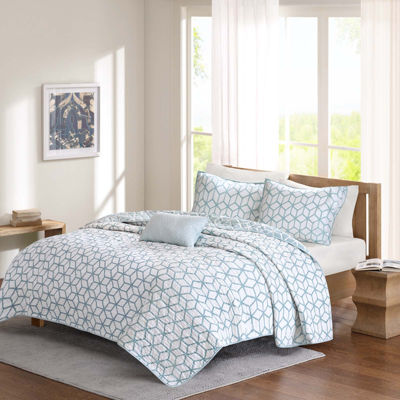 Madison Park Pure Camilla 4-pc. Reversible Coverlet Set