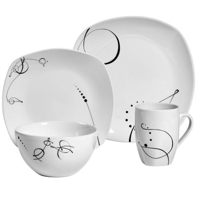 Tabletops Unlimited® Pescara 16 Pc. Porcelain Dinnerware Set