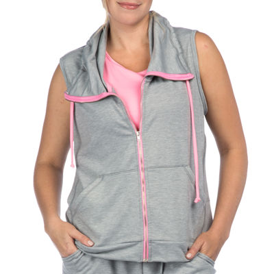 PL Movement by Pink Lotus Sleeveless Hooded Cozy Jacket