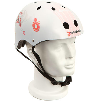 PUNISHER® Skateboards Cherry Blossom Youth Skateboard Helmet