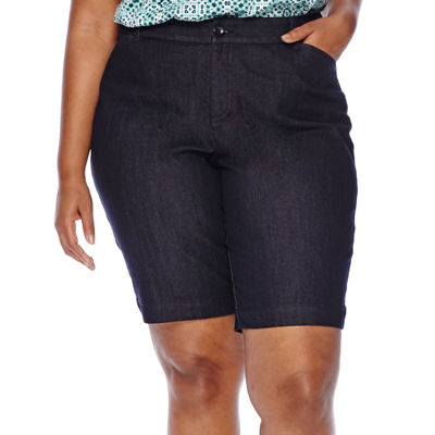"St. John's Bay® Twill Bermuda Shorts - Plus (11.5"")"