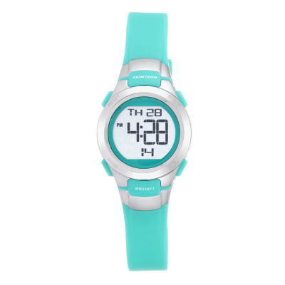 Armitron Pro-Sport Womens Green Strap Watch-45/7012tel