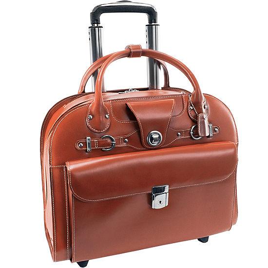 Mckleinusa Edgebrook 15 4 Leather Wheeled Laptop Briefcase