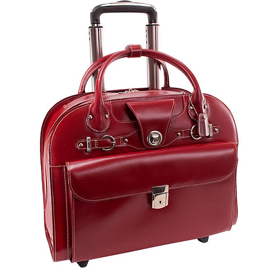 "McKleinUSA Edgebrook 15.4"" Leather Wheeled Laptop Briefcase"