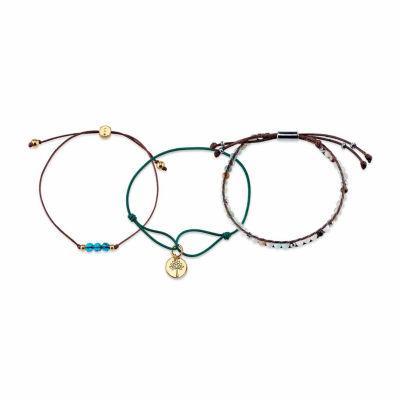 Bridge Jewelry Womens 3-pc. Blue Silver Over Brass Bracelet Set