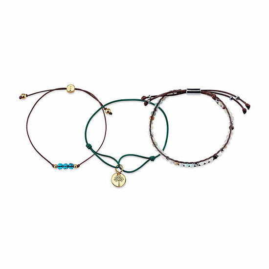 3-pc. Blue Bead Bracelet Set