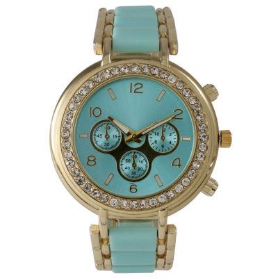 Olivia Pratt Womens Green Bracelet Watch-26245mint