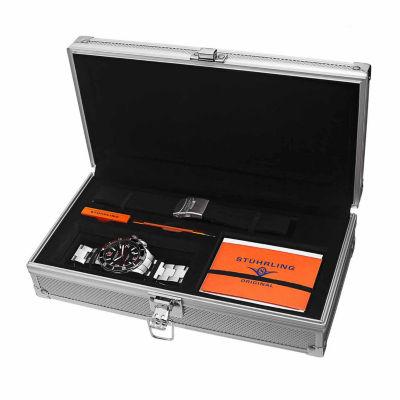 Stuhrling Mens Silver Tone Bracelet Watch-Sp15124