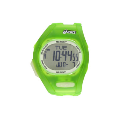 Asics Ar08 Night Run Unisex Green Strap Watch-Cqar0801y