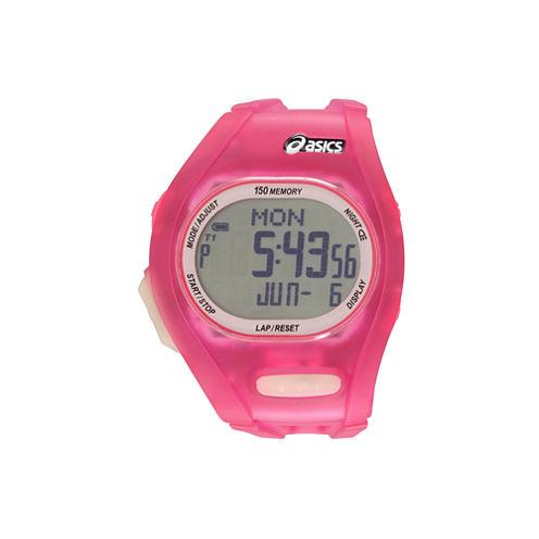 Asics Ar08 Night Run Womens Pink Strap Watch-Cqar0804y