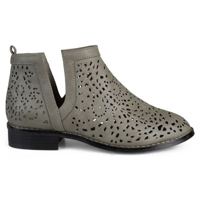 Journee Collection Womens Payton Booties Block Heel Pull-on