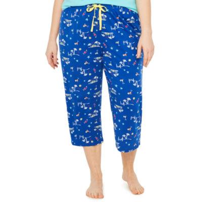 Sleep Chic Jersey Pattern Pajama Pants-Plus