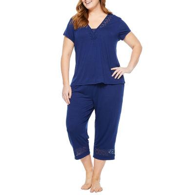 Liz Claiborne Knit Capri Pajama Set