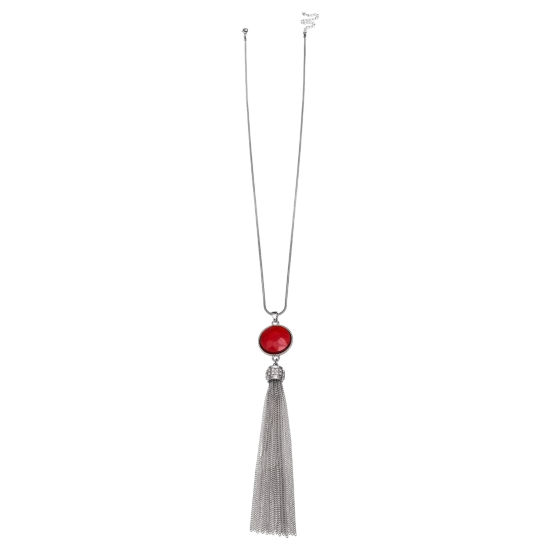 Mixit Clr 0717 Red Womens Pendant Necklace