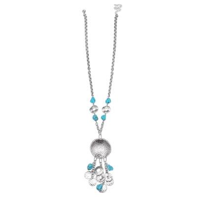 Mixit Clr 0717 Lt Blue Womens Pendant Necklace