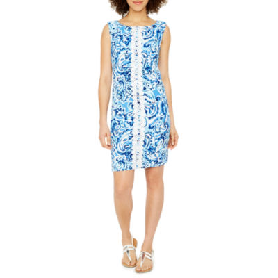 Jessica Howard Sleeveless Paisley Shift Dress