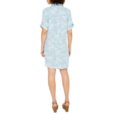 Ronni Nicole Short Sleeve Shirt Dress