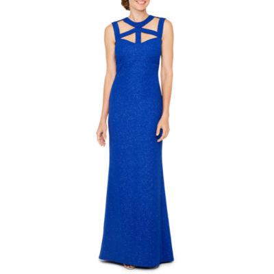 Blu Sage Sleeveless Evening Gown