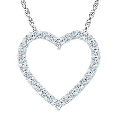 Womens 18 Inch 1/5 CT. T.W. White Diamond 10K Gold Link Necklace