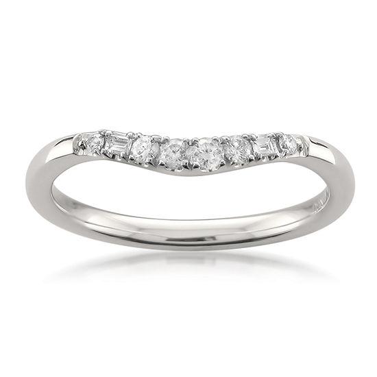 Womens 2mm 1 6 Ct Tw Genuine White Diamond 14k Gold Wedding Band