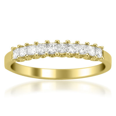 Womens 2mm 1/2 CT. T.W. Genuine White Diamond 14K Gold Wedding Band