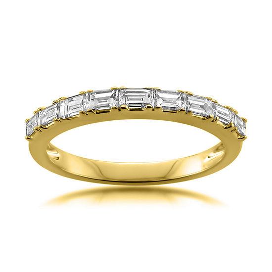 Womens 25mm 1 2 Ct Tw Genuine White Diamond 14k Gold Wedding Band