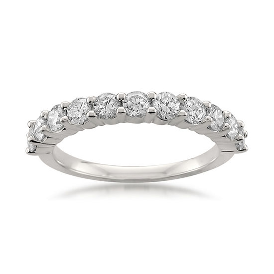 Womens 3MM 1 CT. T.W. Genuine White Diamond Platinum Wedding Band