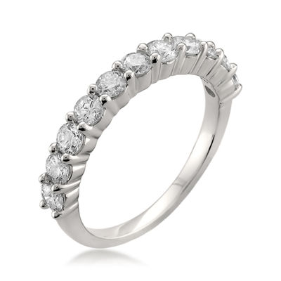 Womens 3MM 1 CT. T.W. Genuine White Diamond Platinum Wedding Band