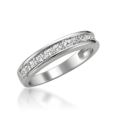 Womens 4mm 1 CT. T.W. Genuine White Diamond 14K Gold Wedding Band