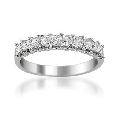 Womens 2.5MM 1 CT. T.W. Genuine White Diamond Wedding Band