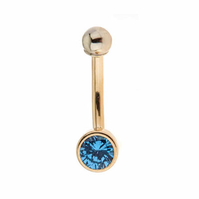 14K Gold Belly Ring