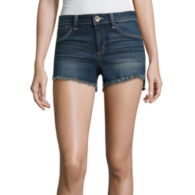 Rewash Destructed Denim Shorts-Juniors
