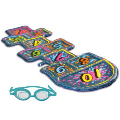 Blue Wave 3D Action Hopscotch Sprinkler Mat