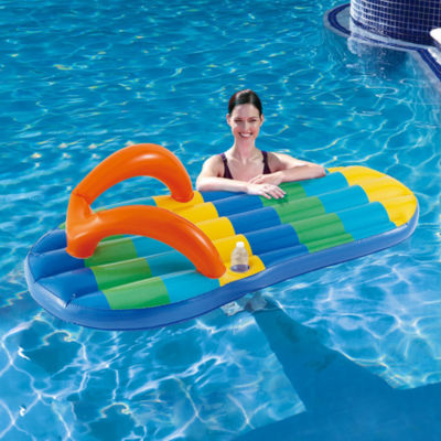 Blue Wave Beach Striped Flip Flop 71-in InflatablePool Float