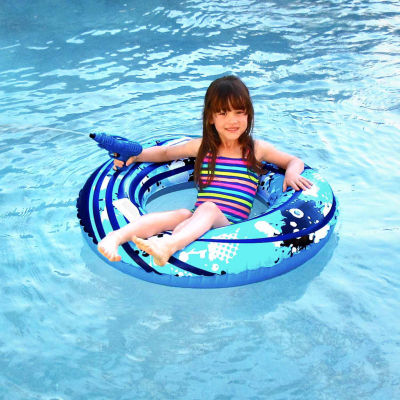 Blue Wave Blaster Ring 42-in Inflatable Pool Toy w/ Squirter