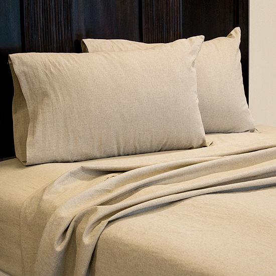Pacific Coast Textiles Linen Cotton Blend Sheet Set