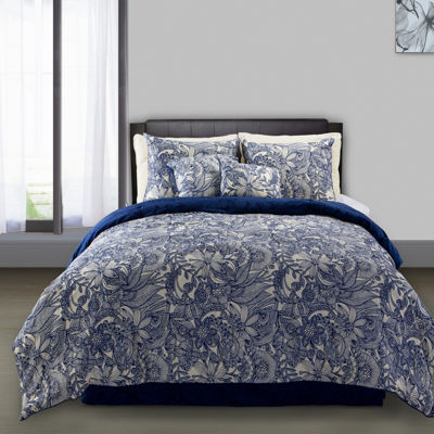 Flowers And Doodles Floral Midweight Comforter Set