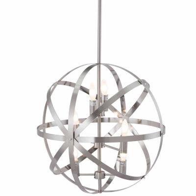 Zuo Modern Aston Ceiling Lamp Satin Nickel