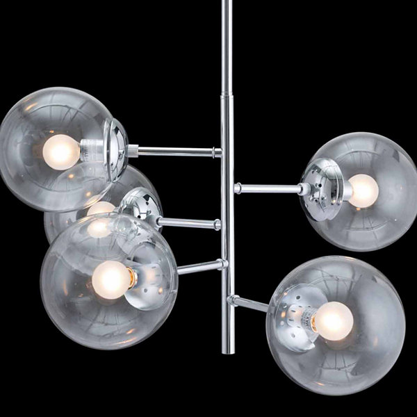 Zuo Modern Somerest Chrome Ceiling Lamp