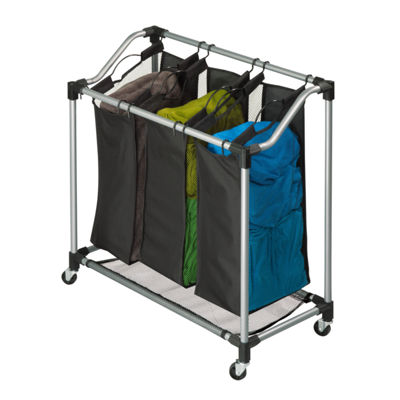 Honey-Can-Do® Triple Laundry Sorter with Mesh Bags