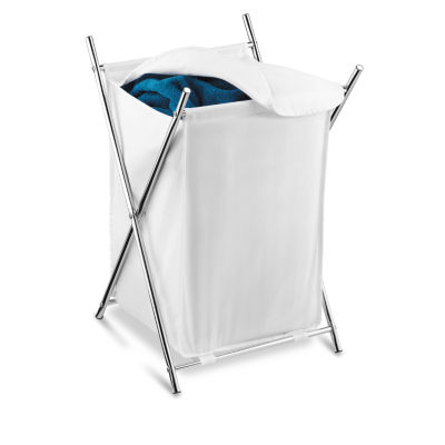 Honey-Can-Do® Chrome Folding Hamper