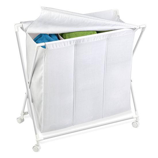 Honey-Can-Do® Folding Triple Hamper/Sorter