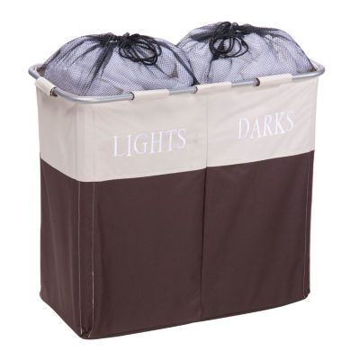 Honey-Can-Do® Dual Compartment Light/Dark Hamper