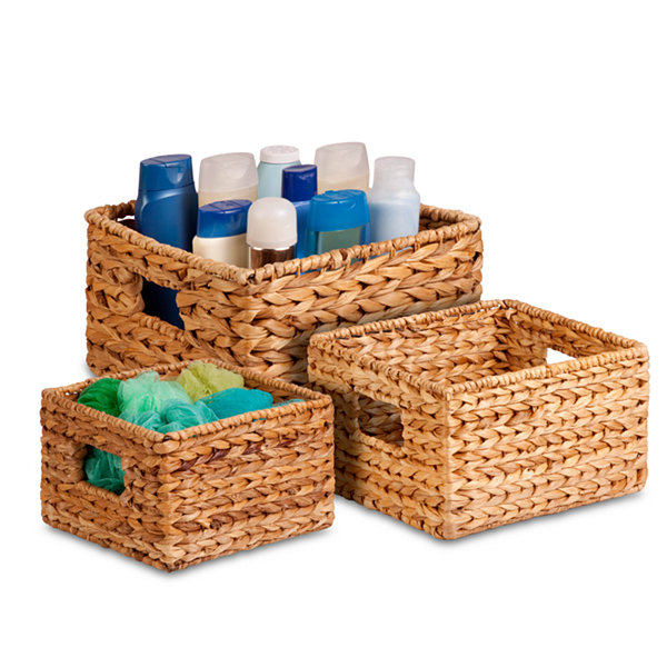 Honey-Can-Do® 3-pc. Nesting Banana Leaf Basket Set