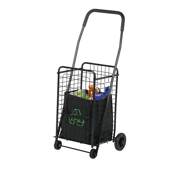 Honey-Can-Do® Medium Folding Rolling Utility Cart