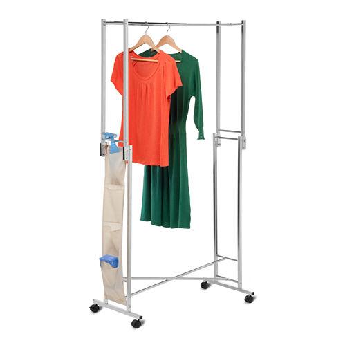 Honey-Can-Do® Steel Double Folding Garment Rack
