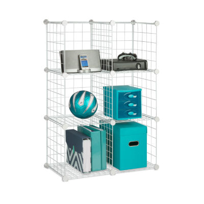Honey-Can-Do® Set of 6 Modular Mesh Storage Cubes