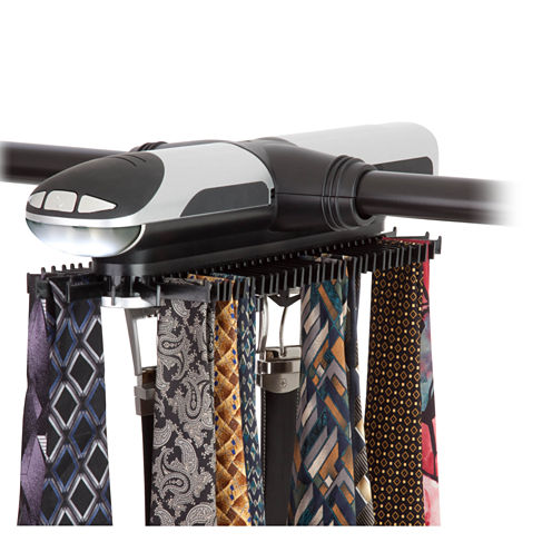 Honey-Can-Do® Extra-Large Battery-Powered Tie/Belt Organizer