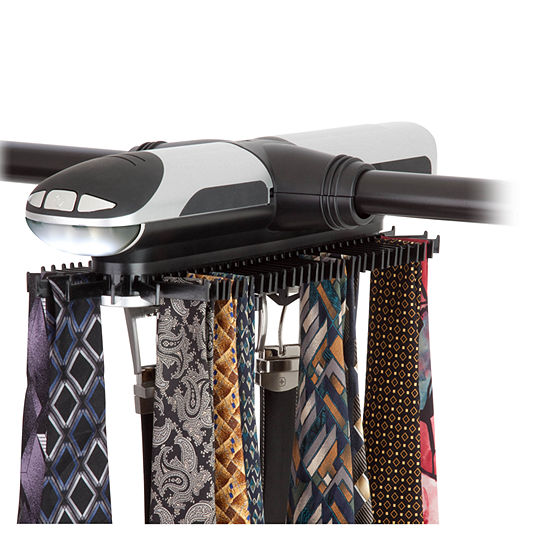 Honey-Can-Do® Extra-Large Battery-Powered Tie Rack / Belt Organizer