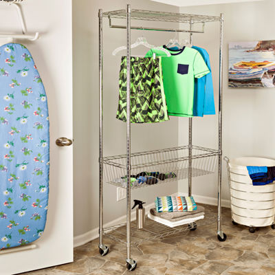 Honey-Can-Do® Rolling Laundry Station
